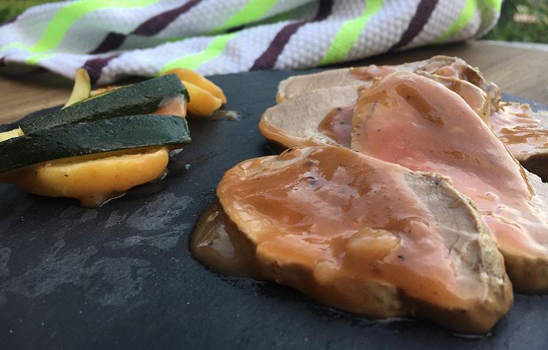 Solomillo de cerdo ibérico en salsa al Oporto